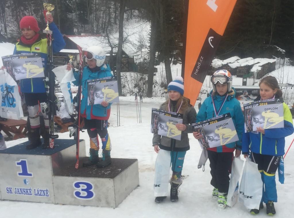 Šarlota 3. místo a Síma na 5. místě
